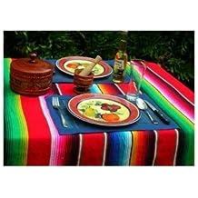 Grande messicano Saltillo Sarapes Coperta copriletto Tappeto colorato