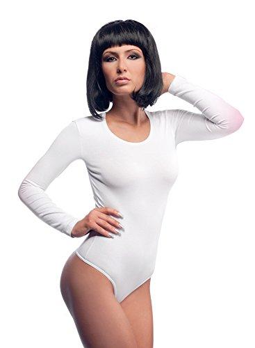 Liege Nachtwäsche (Evoni Damenbody | Overall Bodysuit mit Rundhals für Frauen | Optimale Alternative für Sport & Freizeit | Eleganter Jumpsuit, Weiß, Gr. Large)