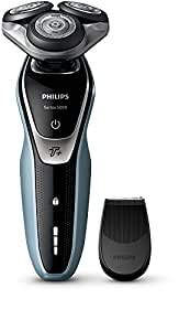 Philips Series 5000 Wet and Dry Men's Electric Shaver with Turbo Plus Mode - S5530/06 (UK 2-Pin Bathroom Plug)