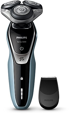 Philips Series 5000 Wet And Dry Mens Electric Shaver With Turbo Plus Mode S553006 UK 2 Pin Bathroom Plug