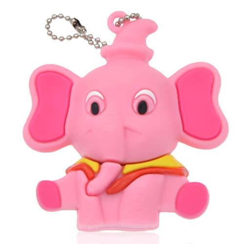 Chiavetta usb 16gb novità pendrive rosa elefante pennetta usb kepmem cartone animato chiave usb gomma penna usb 2.0 carino 16 gb flash drive regalo memoria stick ragazza portachiavi