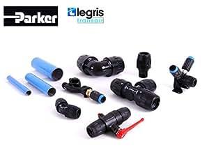 Legris transair tube en aluminium bleu ø 25–1006A250400