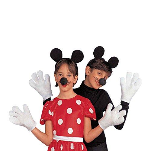 Minnie Mouse Set Kinder Mauskostüm Set Maus Kinderkostüm Mäuschen Mädchenkostüm Fasching Mickey Faschingskostüm Disney Mottoparty Verkleidung Karneval Kostüme für Mädchen