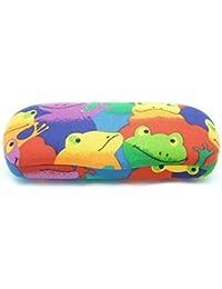 Spaß Kinder / Kinder Jungen Mädchen Brillen / Sonnenbrille Hart (Weicher Hülle) 'Cutie' Kasten opfergabe Toller Schutz Erhältlich in 2 Frosch & Cat Designs Geeignet 4 - 10 Jahre