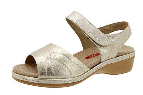 Scarpe donna comfort pelle Piesanto 6801 sandali soletta estraibile comfort larghezza speciale