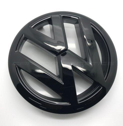 Preisvergleich Produktbild Carbon-Genetics Glänzend,  schwarz Golf MK6 Front Grill Motorhaube Abzeichen Emblem-2009 bis 2012
