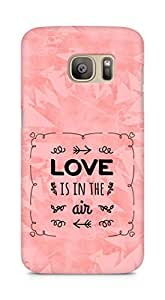 Amez Love is in the Air Back Cover For Samsung Galaxy S7 Edge