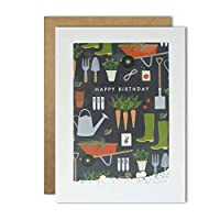James Ellis - Wheelbarrow and Wellies Gardening Pattern Card - Rectangular Shakies PH3054