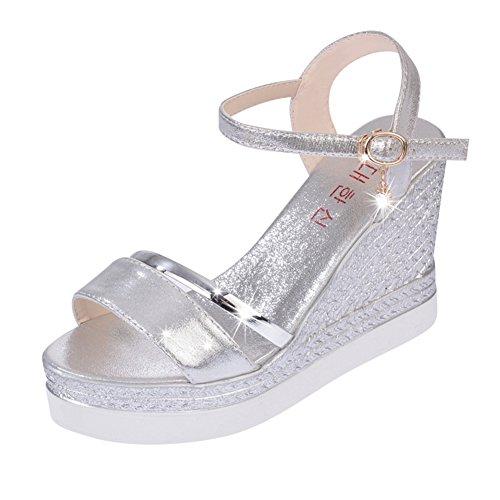 Sandales bout ouvert durant l'été/Version coréenne cales chaussures plate-forme/chaussures Joker A