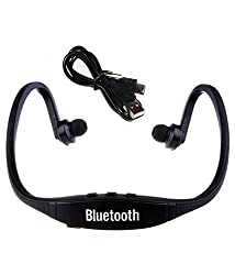 Defloc Bluetooth Headphones with Mic SD Card Slot BS19C (Black)