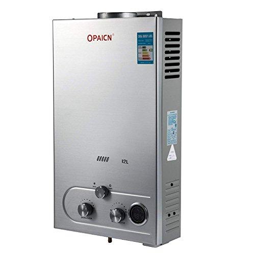 FlowerW 12L LPG Gas-Warmwasserbereiter LPG Digitaler LCD Automatik Schnellwarmwasserbereiter(12L-LPG) -