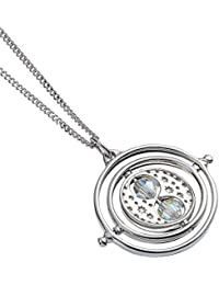 The Carat Shop Harry Potter Chain Time Turner Pendant with Swarovski Crystals 44cm Sterling Silver