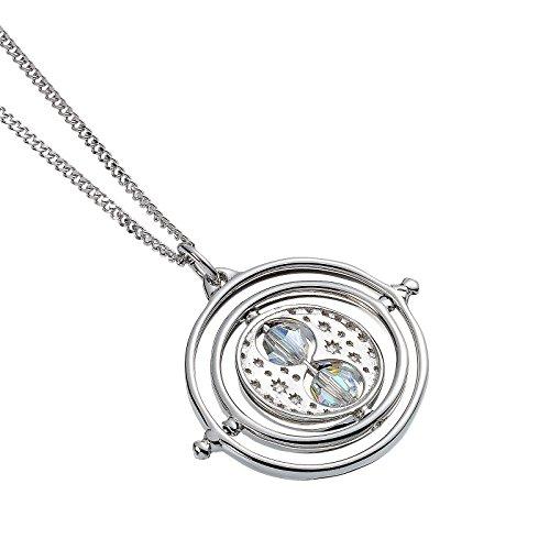 The Carat Shop Harry Potter Kette Zeitumkehrer Anhänger mit Swarovski Kristallen 44cm 925er Silber