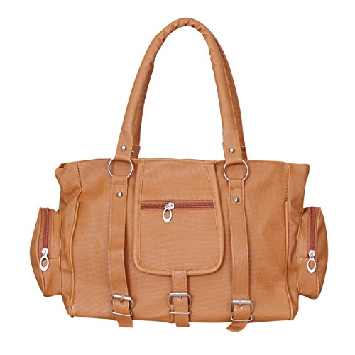 Naaz Bags Collection Women's 3 Buckle Hand Bag ( Tan_NBC000255)  available at amazon for Rs.245