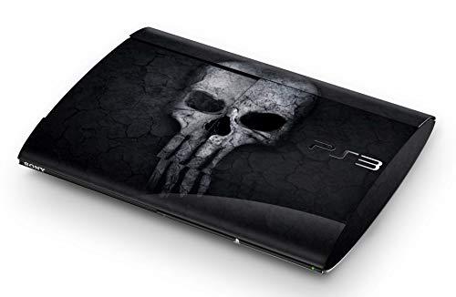Skins4u Aufkleber Design Schutzfolie Vinyl Skin kompatibel mit Sony PS3 Playstation 3 Super Slim Hard Skull