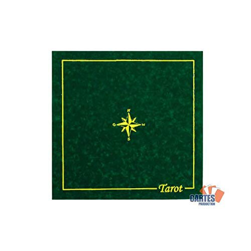Tapis Tarot CARTES PRODUCTION (60/60 cm) Vert