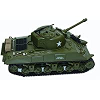 Dilwe 1:30 2.4Ghz US M4A3 Sherman RC Tanque de Batalla Tanque Infrarrojo Serie