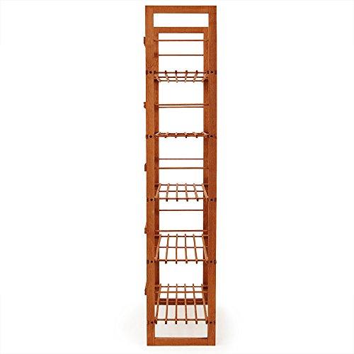 Wooden Rack Brown Wooden Shelf With 5 Shelves Tier U2013 Shoe Shelf U2013 Storage  Unit ...