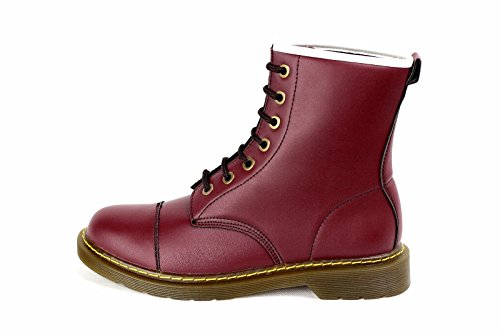 hommes décontracté Montante à Lacets Chelsea Chaussures Mode Faux Cuir Retro taille 6-12 UK Bordeaux