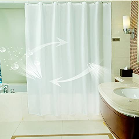 Tissus Rideaux - Eanshome Blanc Tissu en Polyester Salle de