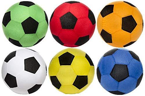 wuselwelt 1 riesiger XXL Aufblasbarer Fussball mit Fleece Hülle, 50 cm Durchmesser. Super Spielball für Garten, Pool, Freibad, Schwimmbad UVM.