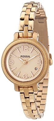 Fossil ES3136 - Reloj analógico de cuarzo para mujer, correa de acero inoxidable color oro rosa