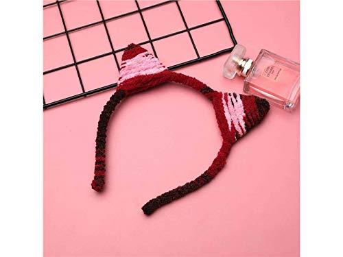 Heelinna Blumensträuße Lustige Katze Ohren Weihnachten Haarband Stirnband Weihnachtsfeier Kostüm Zubehör (rot 3) (Rote Katze Ohren Kostüm)