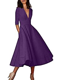 professional website durable in use how to get Amazon.co.uk: Purple - Dresses / Women: Clothing