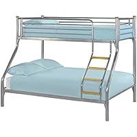 Marca nueva Triple cama litera cama 3ft Single 4ft6doble 3persona cama de madera Escalera Pasos–Color Plateado