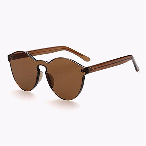 ZYPMM 2017 neue koreanische im Freiendamen Sonnenbrille männliche Plastiksonnenbrille Europa und die Vereinigten Staaten Tendenz Retro Gläser polarisiertes Licht ( Color : Braun )