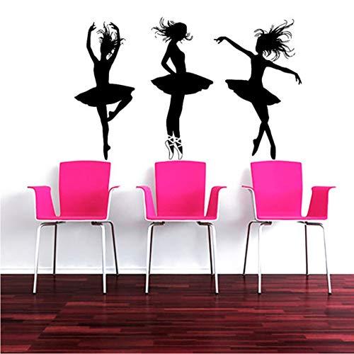 Ajcwhml Vinyl Attraktive Drei Ballett- Schauspielerin Muster Wandbild Schönes Zuhause Wohnzimmer Dekor Wandbild 56 * 89 Cm (Halloween Schauspielerin Aus)