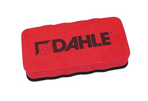 Dahle Whiteboard Schwamm (Magnetischer Wischer für Trockenreinigung auf vielen Oberflächen) rot -