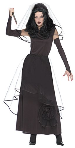Kostüm Braut Gothic - Karneval-Klamotten Zombie Braut Kostüm Horror Braut Kostüm Gothic Braut Kostüm Damen Braut Kostüm Halloween Damenkostüm Schwarze Witwe inkl. Schleier + Handschuhe 36/38