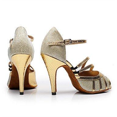 Chaussures De Danse-personnalisable-womens-latin-american Dance / Custom-talon-tailored-faux Cuir / Éclat-noir / Or Noir