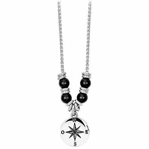 2jewels-brujula-atlantic-collar-acero-inoxidable-con-onyx-y-circonitas-negro-esmaltada-50-cm-251461