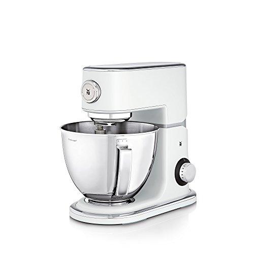 WMF Profi Plus Küchenmaschine, 1000 W, Cromargan-Rührschüssel 5 l, planetarisches Rührwerk, 8 Geschwindigkeitsstufen, metal white - Fünf-sterne-küchenmaschine