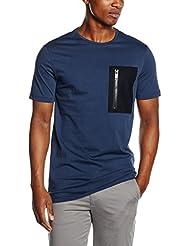 Antony Morato American Fit, Con Patch E Zip Lato Cuore, T-Shirt Homme