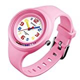WATCH GYQ@ Relojes Populares Bola de Disco Reloj de Cuarzo a Prueba de Agua para niños de Colores, para Mujer,Pink