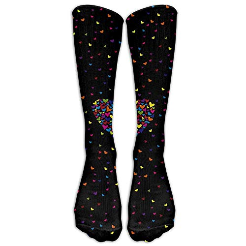 Yuerb Hohe Socken Casual Valentine's Day Crew Boot -
