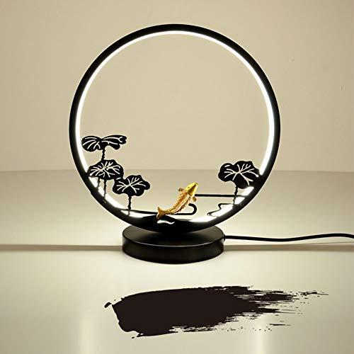TSWCBYY Kreative LED Metall Tischlampe, Schlafzimmer Raumdekoration Nachttischlampe, Arbeitszimmer Dekoration Tischlampe Schmiedeeisen Lampe, 33 * 30 * 15CM