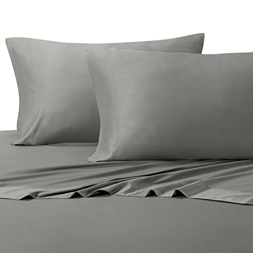 Xl Satin Streifen (Solid Bed Sheet Set, 100% Baumwolle, Fadenzahl 300, Satin, deep Pocket Blatt, durch royal Hotel, baumwolle, grau, Twin XL)