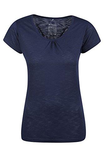 Mountain Warehouse Agra Damen-T-Shirt - leichtes, schnell trocknendes, atmungsaktives Sommer-Oberteil mit hoher Feuchtigkeitsregulierung - für Sport, Wandern, Freizeit Marineblau DE 46 (EU 48)