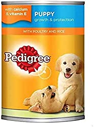 Pedigree Puppy with Poultry and Rice, Wet Dog Food, Can, 24 x 400g