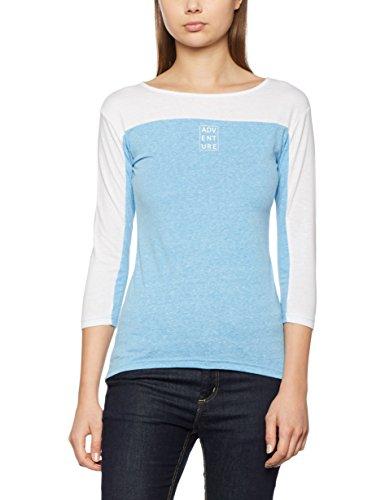 Intimuse Dorda - T-shirt - Femme Bleu (hellblau Melange/weiß 087)