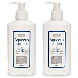 2 x Nuage Moisturising Aqueous Cream Lotion Pump Dispenser 250ml