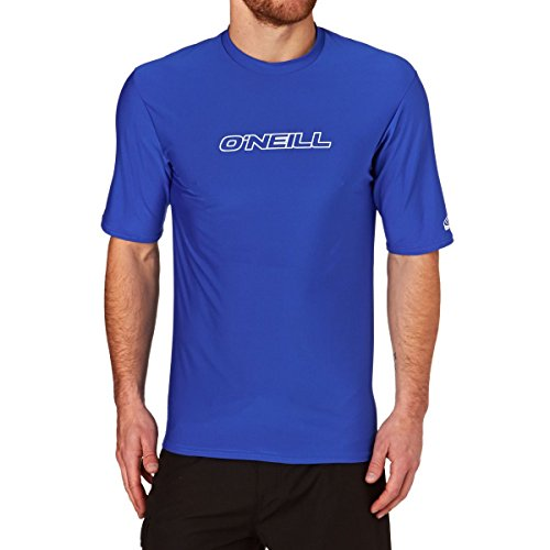 O'Neill Wetsuits Herren Basic Skins S/S Tee Rash Vest, Pacific, L (Hoch Shirt Pacific)
