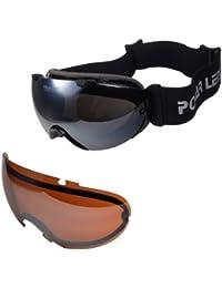POLARLENS SERIES PG20-01 Lunettes de ski / Lunettes de Soleil / Lunettes de Snowboard / Lunettes de sport avec LENTILLES INTERCHANGEABLES + ANTI-Brouillard + Micro-fibres pochette !