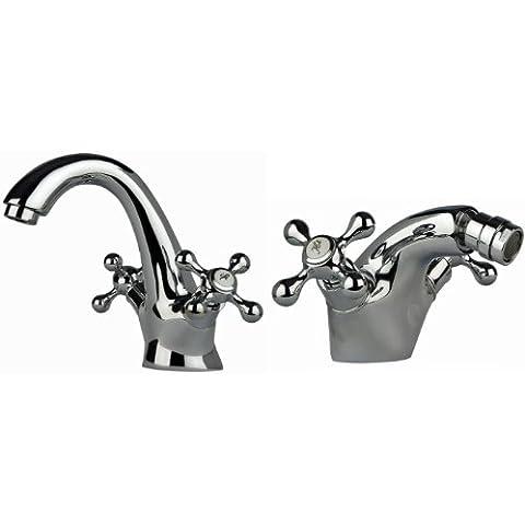 Retro Design Rubinetto da bagno Set/lavandino e rubinetto per bidet Nostalgie