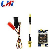 LHI woafly FX877T 5.8 GHz Mini FPV Video Transmitter 37CH Switchable Power Video Transmitter VTX with Smart OSD for RC Drone Quadcopter