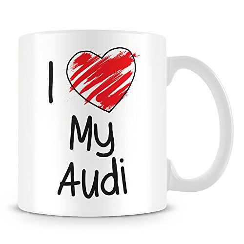 Price comparison product image I Love My Audi Personalised Mug (add ANY name, message, text, photo) Customised Cup Gift
